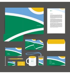 Corporate identity template design stationery vector