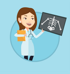 doctor examining radiograph vector image