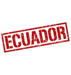 Ecuador red square stamp vector