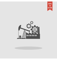 industry icon Modern design flat style vector image
