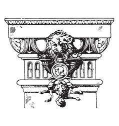 Modern doric pilaster capital pilaster vintage vector