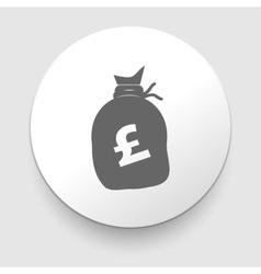 Money bag sign icon pound gbp vector