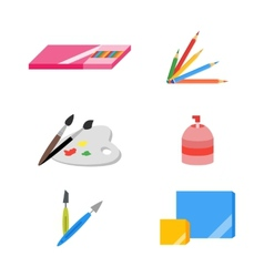 Painting icons eps 10 flat vector image