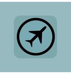 Pale blue plane sign vector image