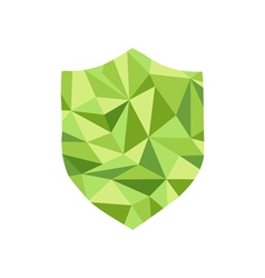 Polygonal guard Icon with geometrical figures vector image