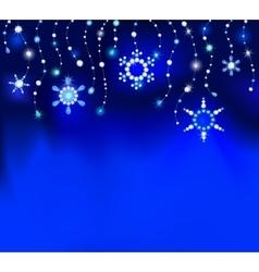 Precious snowflakes vector image