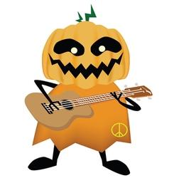 Pumpkin halloween party vector image vector image