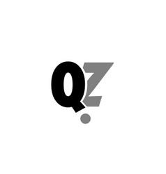 qz q z black white grey alphabet letter logo icon vector image vector image