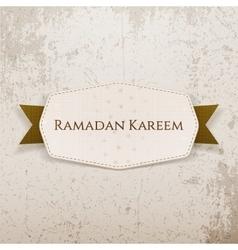 Ramadan kareem greeting banner with text vector
