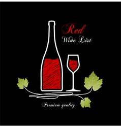 Red wine list vector image vector image