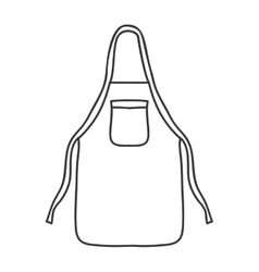 silhouette monochrome with kitchen apron vector image