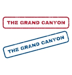 The grand canyon rubber stamps vector