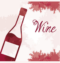 Wine bottle vintage image vector