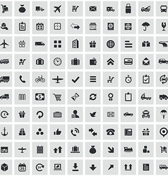 100 delivery icons vector image vector image