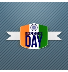 Indian Independence Day Badge with Shadow vector image