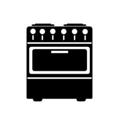 Stove icon flat design vector