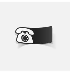 realistic design element telephone vector image