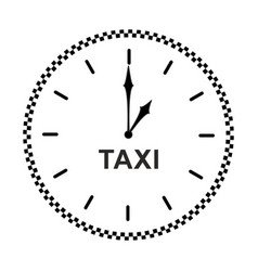 taxi clock icon vector image