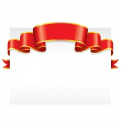 paper with ribbon vector image