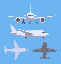 set of planes vector image
