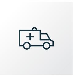Ambulance outline symbol premium quality isolated vector