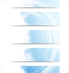 Technology gear abstract cards collection vector