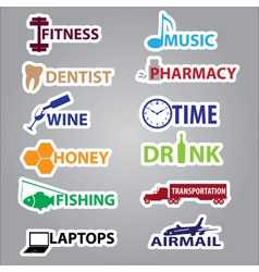 Business stickers with text eps10 vector