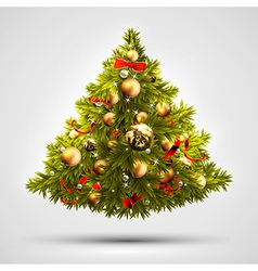Christmas tree design this may be us vector