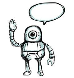 robotsketch vector image