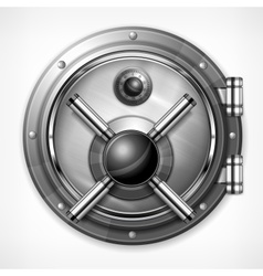 Bank vault on white vector