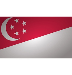 singapore flag vector image