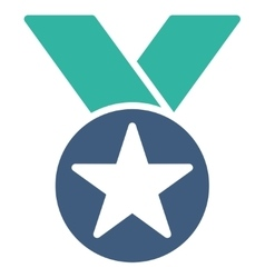 Medal icon from competition  success bicolor icon vector