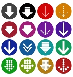 Arrow sign icon set- vector