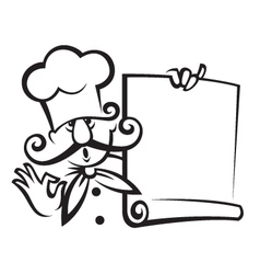 chef with menu vector image