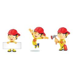 Fireman 1 vector image