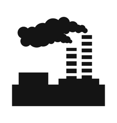 Factory pollution simple icon vector