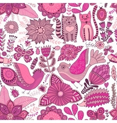Seamless floral pattern spring and summer vector
