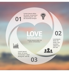 heart circle infographic Template for love vector image