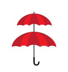 Double protection concept double layer of umbrella vector