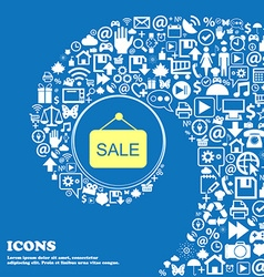 Sale icon nice set of beautiful icons twisted vector
