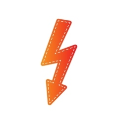 High voltage danger sign orange applique isolated vector