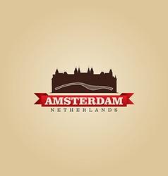 Amsterdam netherlands city symbol vector