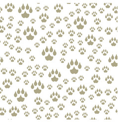 animal footprints include seamless pattern mammals vector image vector image