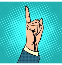 Attention gesture thumbs up vector