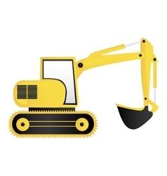 backhoe machine icon image vector image