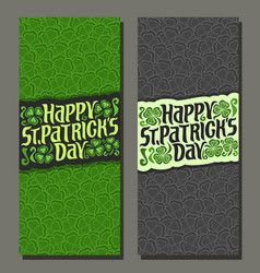 banners for patricks day vector image vector image