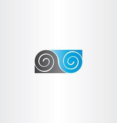 black blue infinity spiral symbol vector image vector image