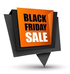 Black friday sales tag vector