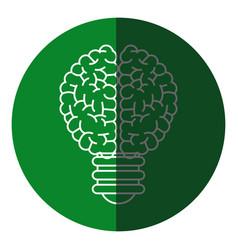 Brain bulb inspiration creativity icon circle vector