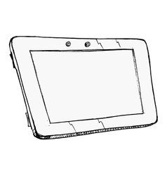 computer tablet vector image vector image